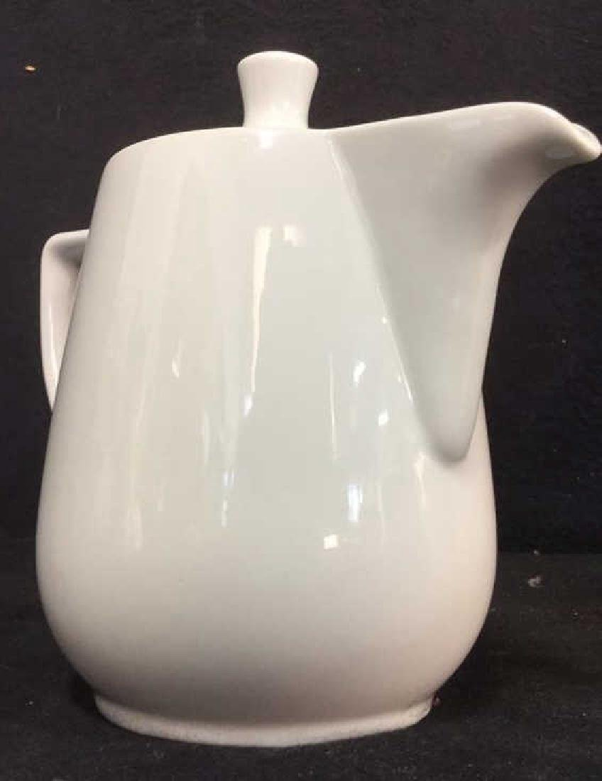 Lot 2 White Porcelain Pitcher & Teapot - 4