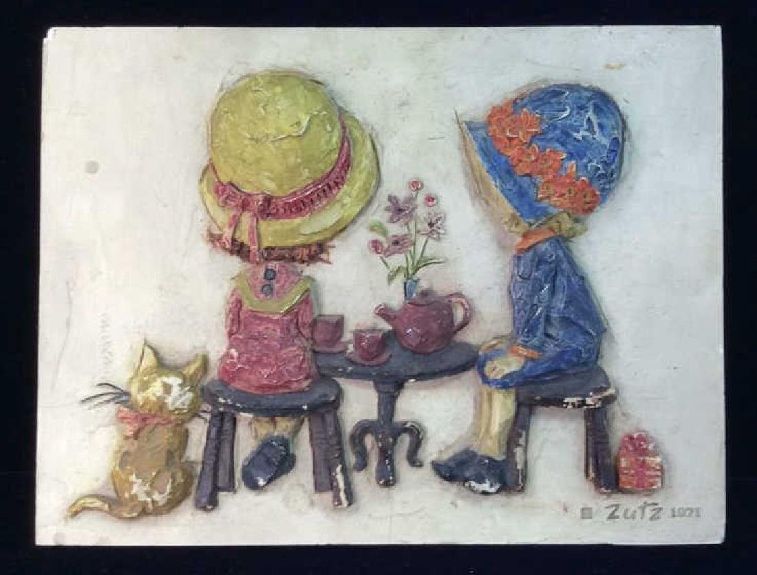 ZUTZ Vintage Tea Party Wall Plaque