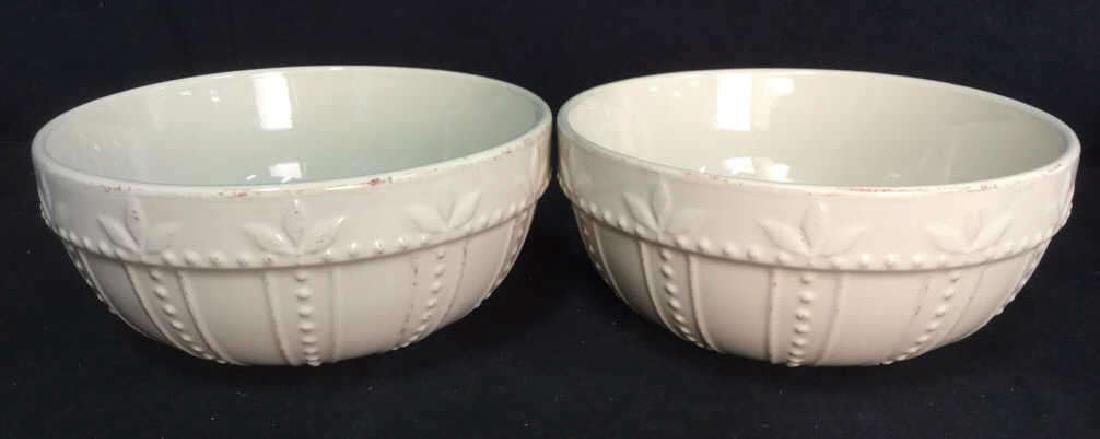 SORRENTO Cream Toned Ceramic Bowls