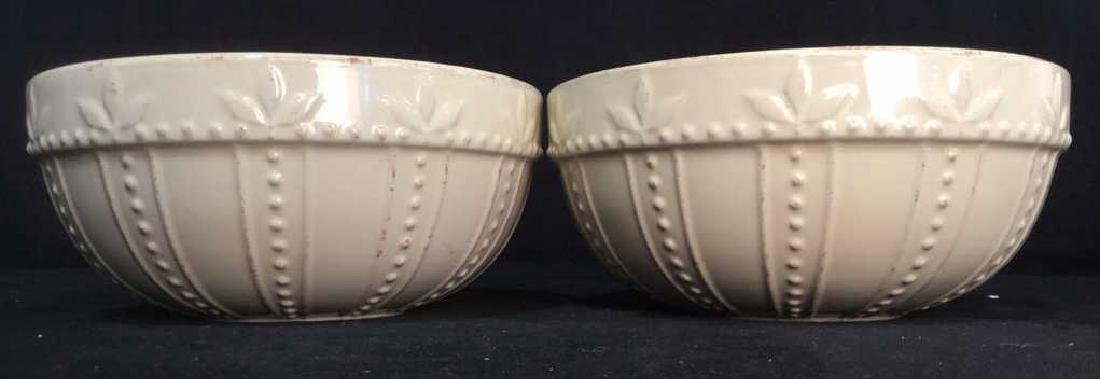 SORRENTO Cream Toned Ceramic Bowls - 2