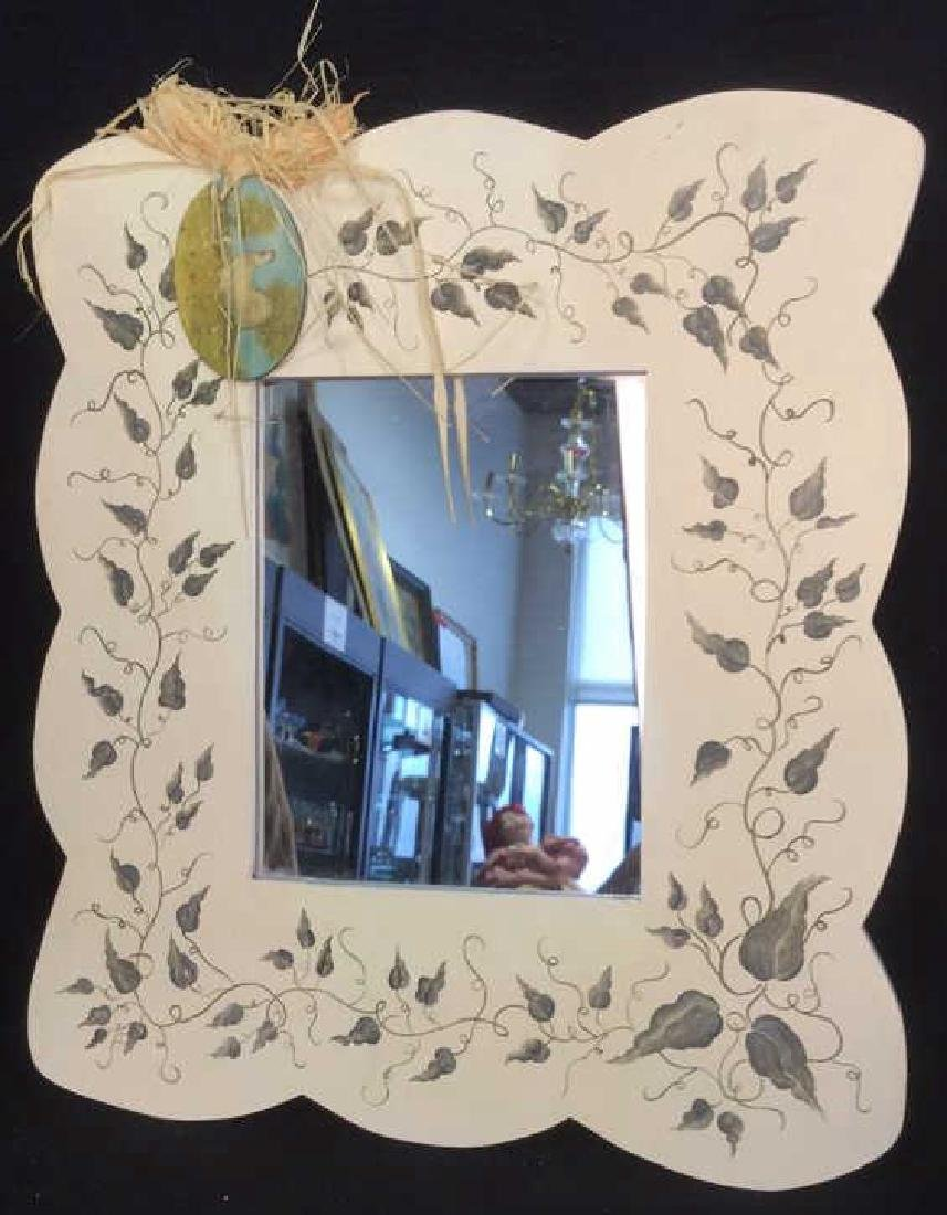 Painted Wooden Frame Mirror