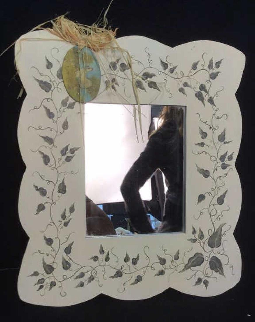 Painted Wooden Frame Mirror - 2