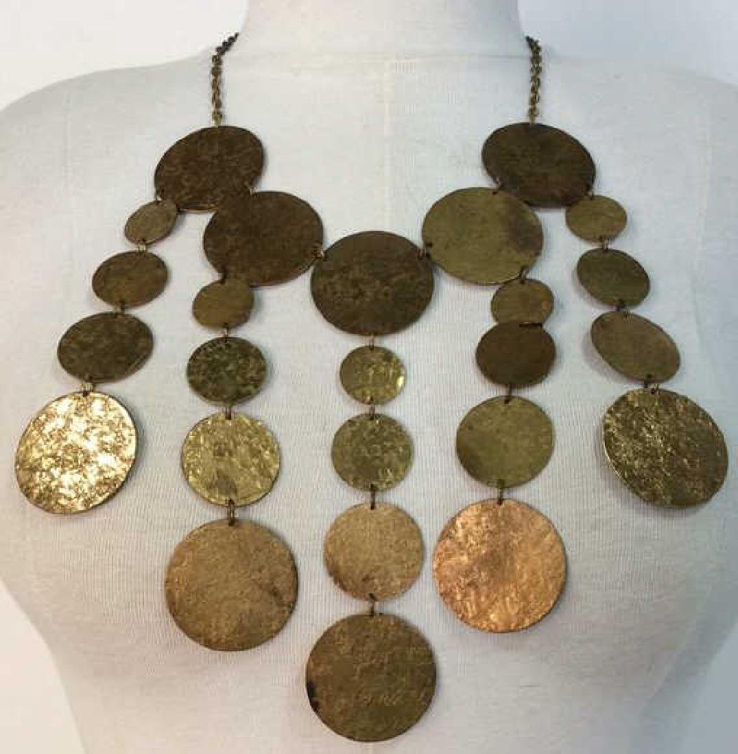 Gold Toned  Statement Metallic Necklace