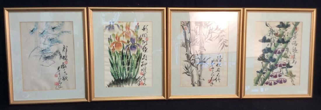 Lot 4 Framed Asian Prints
