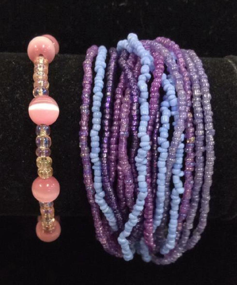 Lot 2 Beaded Bracelets