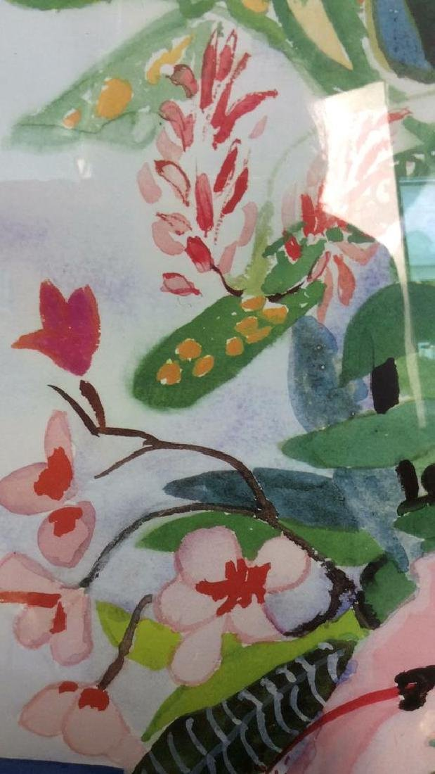 Signed Floral Watercolor Artwork - 8