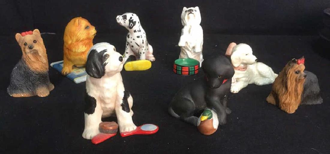 Lot 8 Assorted Dog Figurines