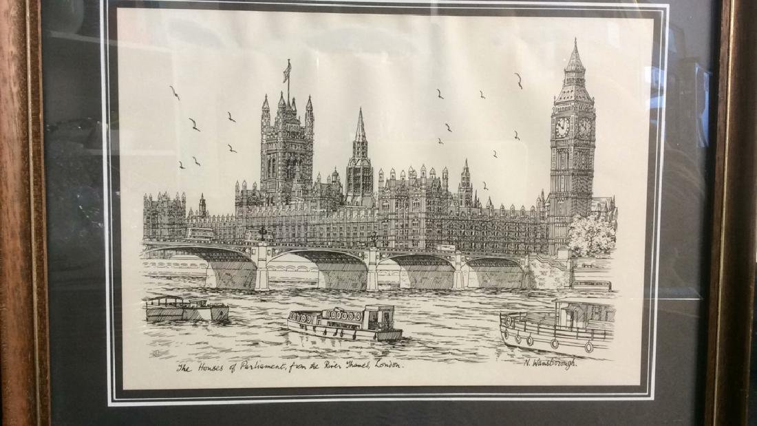 The Houses Of Parliament Art Print - 2