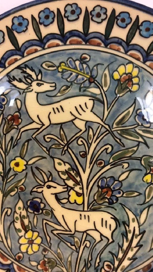 Jerusalem Painted Signed Pottery Plate - 3