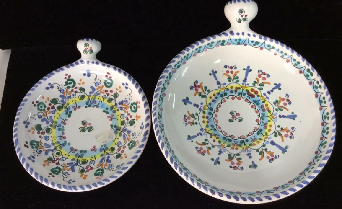 Pair Decorative Painted  Display Plate