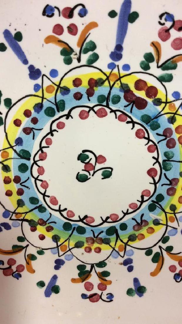Pair Decorative Painted  Display Plate - 3