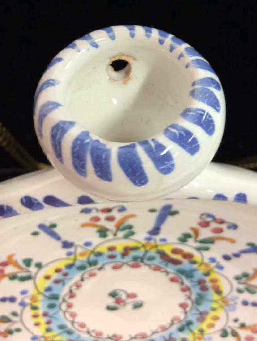 Pair Decorative Painted  Display Plate - 4