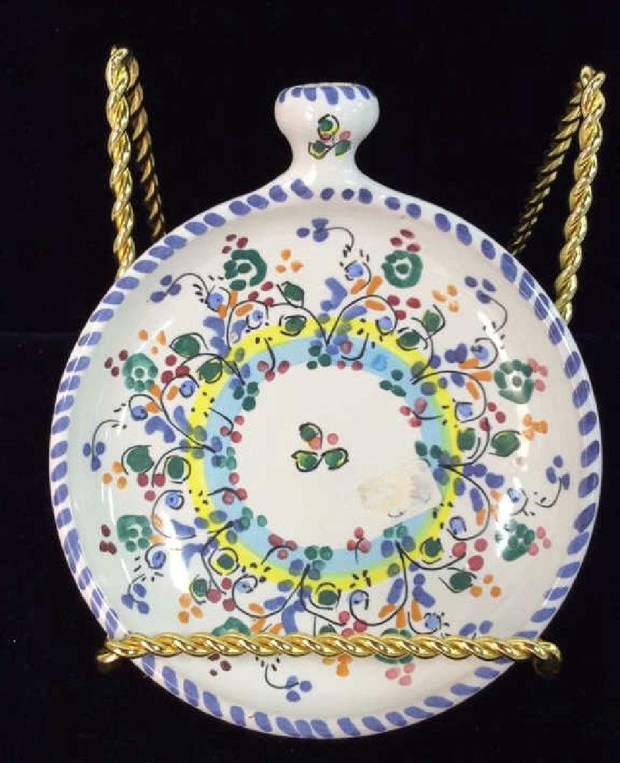 Pair Decorative Painted  Display Plate - 5