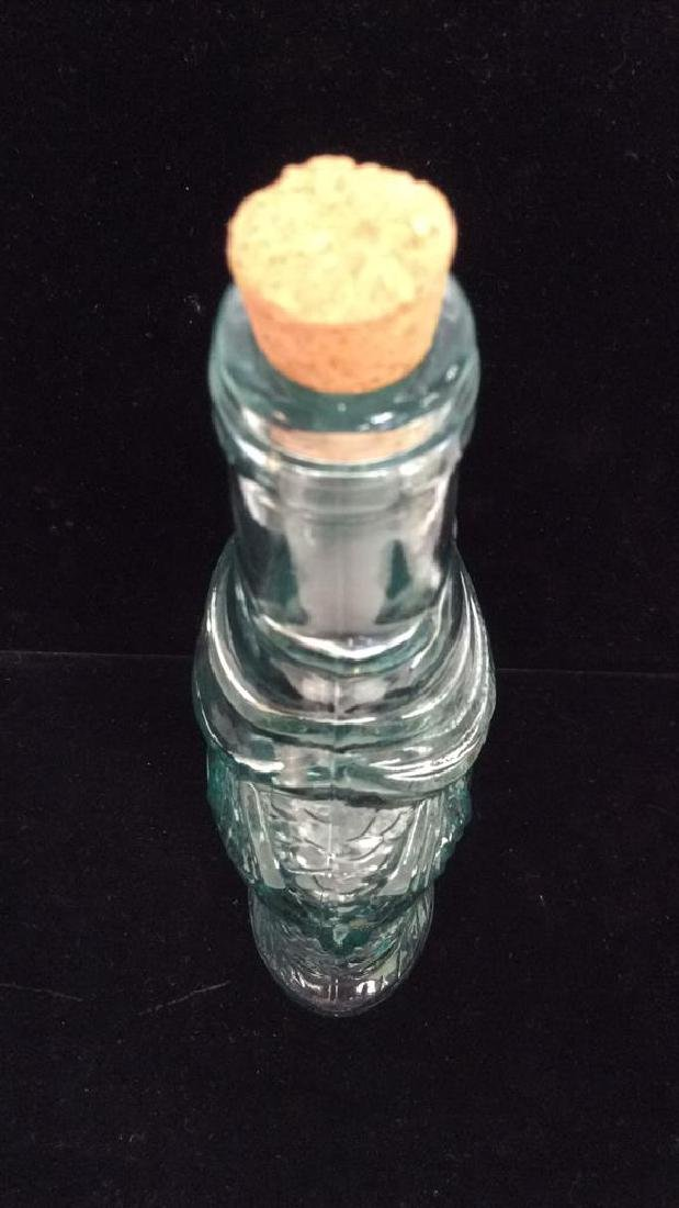 Fish Figural Glass Bottle W Cork Stopper - 6