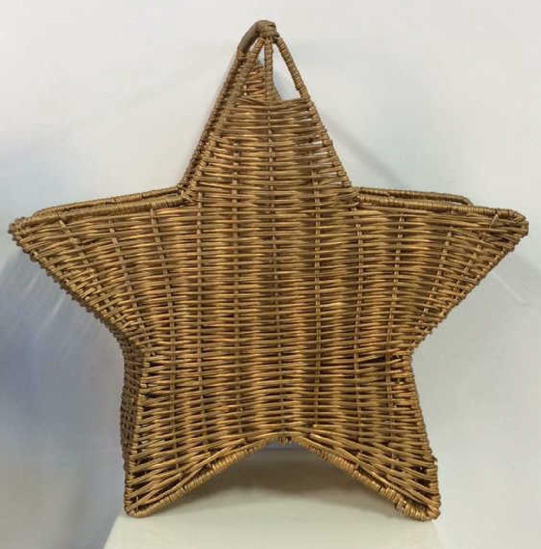 Star Shaped Woven Handled Basket