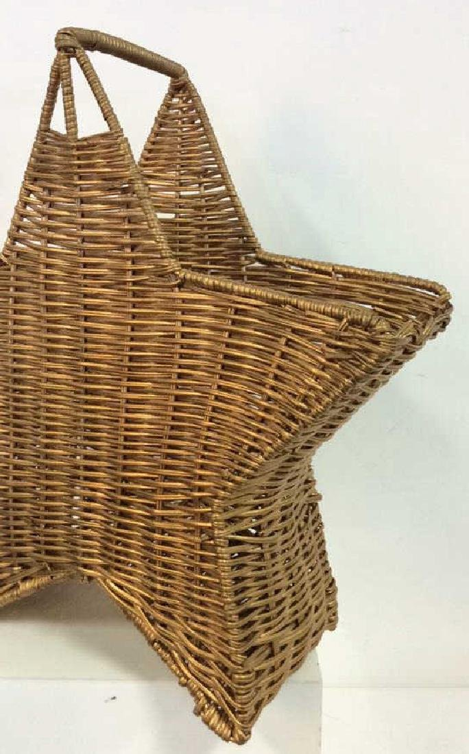 Star Shaped Woven Handled Basket - 3