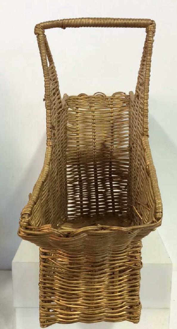 Star Shaped Woven Handled Basket - 4