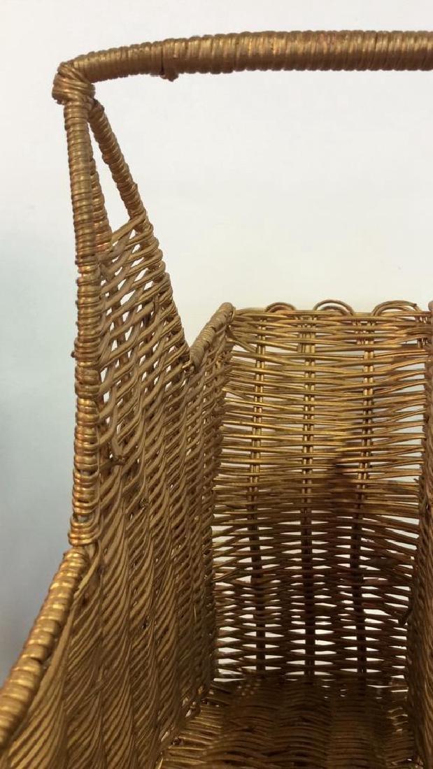 Star Shaped Woven Handled Basket - 5