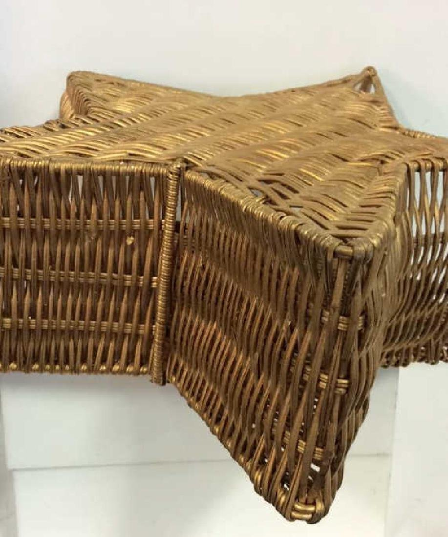 Star Shaped Woven Handled Basket - 6