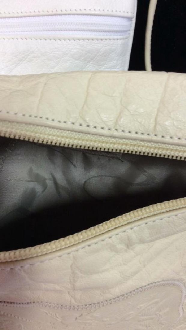 Pair Carlos Falchi Leather Cross Body Purses - 8