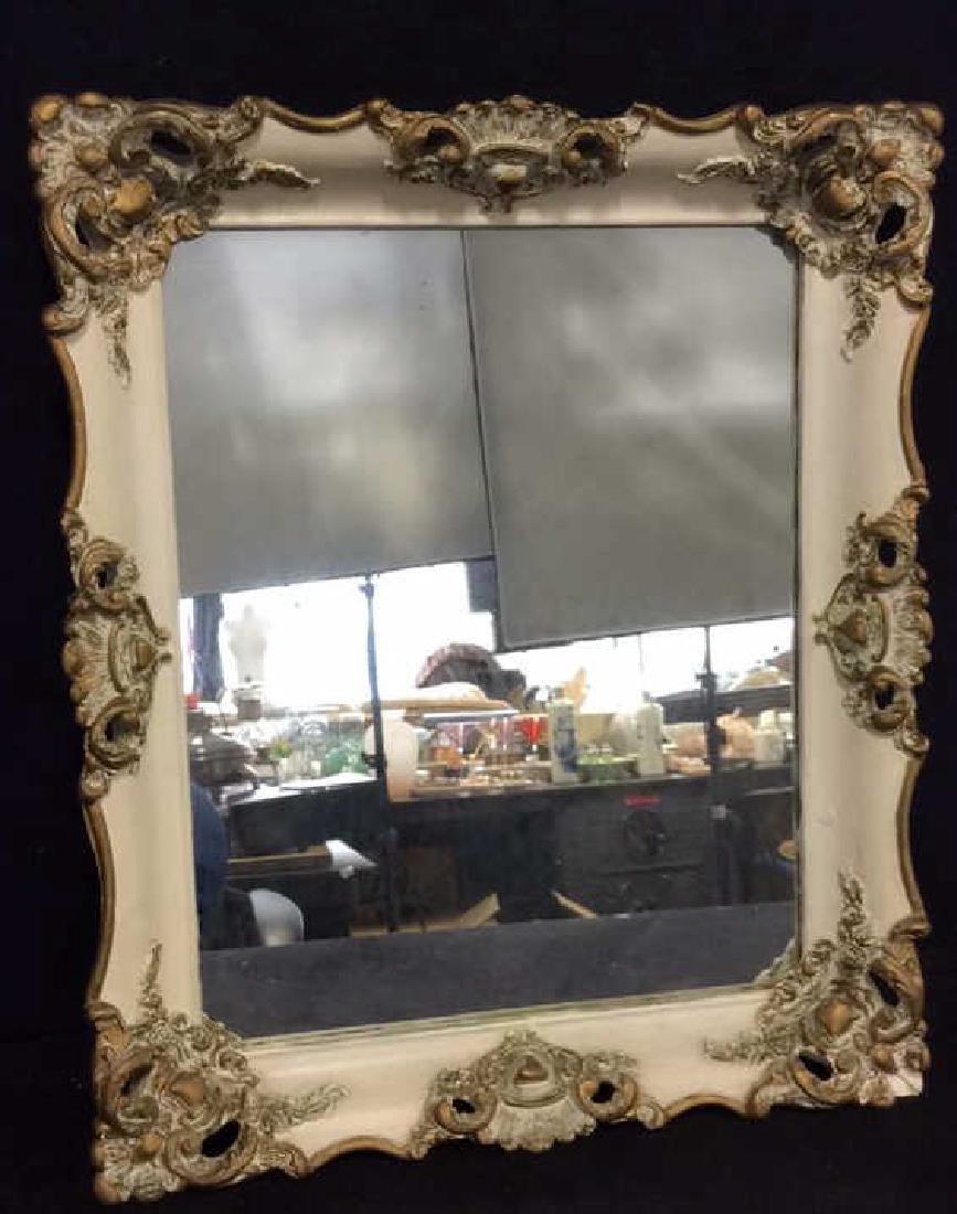 Ornate Detailed Wooden Framed Mirror
