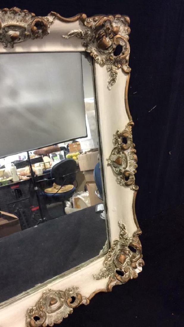 Ornate Detailed Wooden Framed Mirror - 2