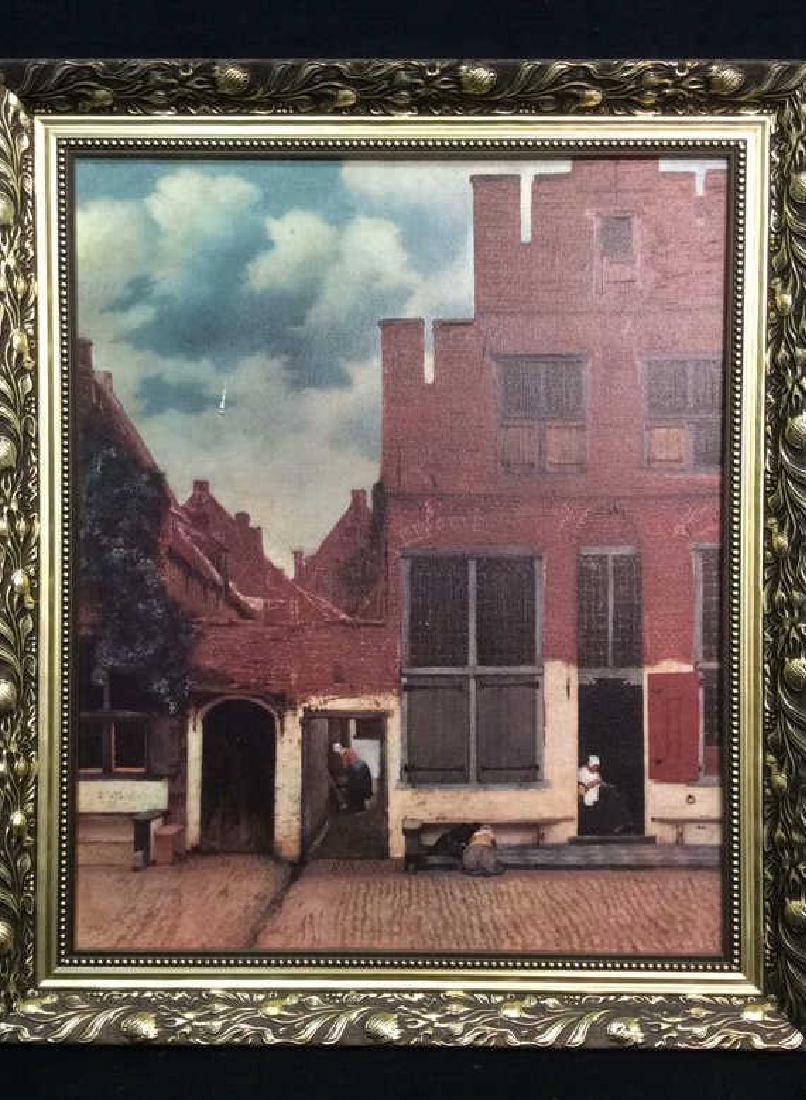 JOHANNES VERMEER THE LITTLE STREET Framed Print - 2