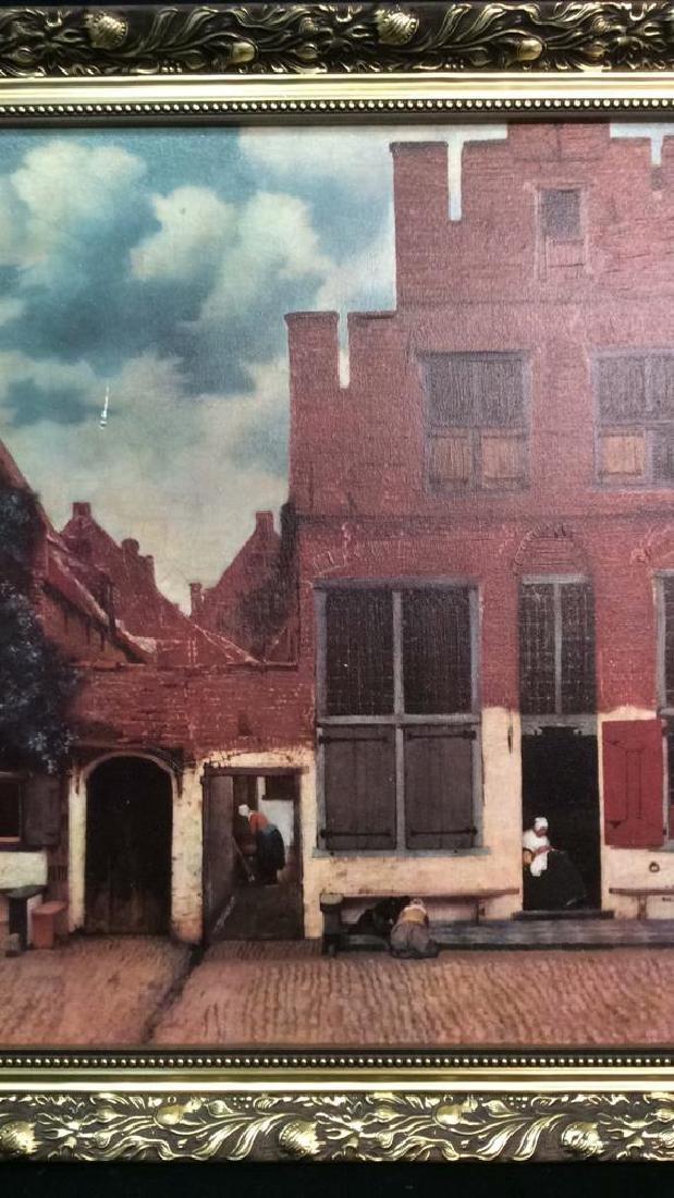 JOHANNES VERMEER THE LITTLE STREET Framed Print - 3