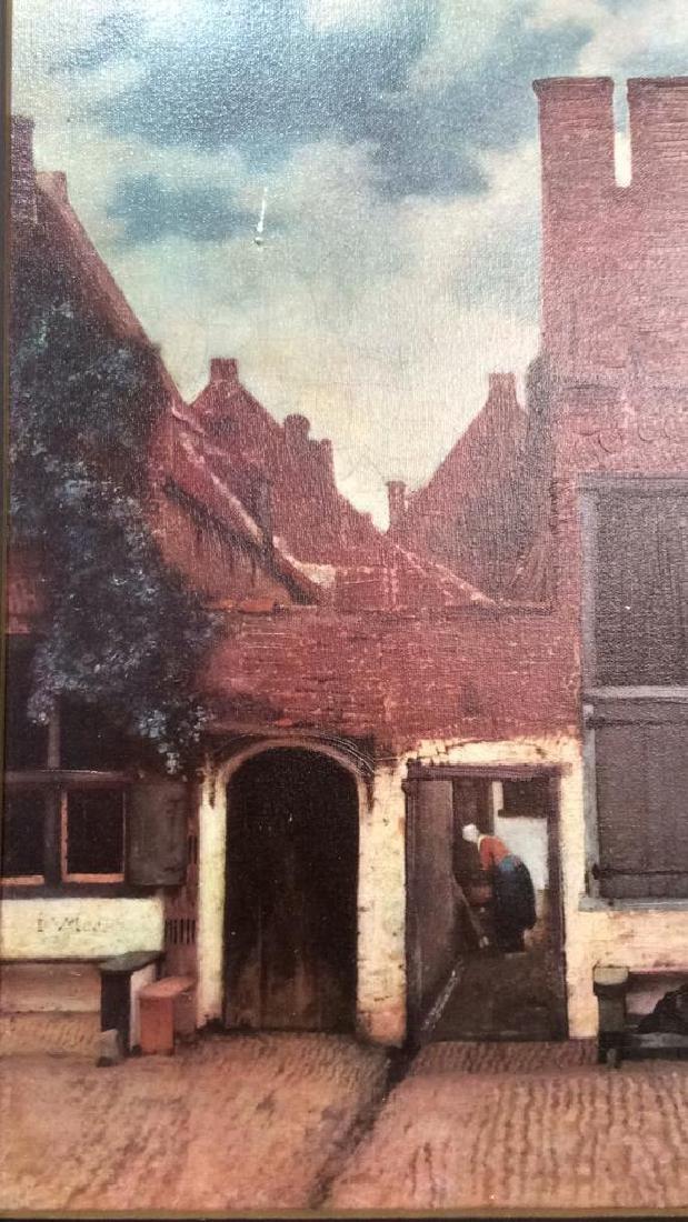JOHANNES VERMEER THE LITTLE STREET Framed Print - 4