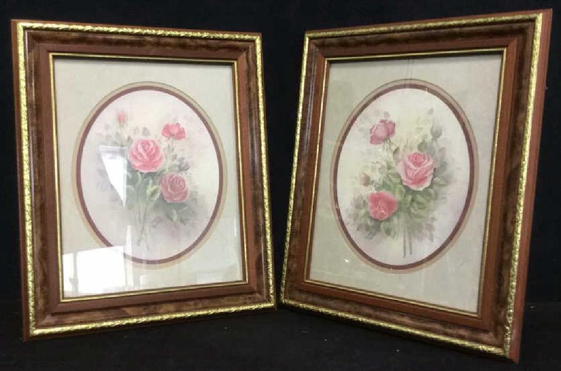 Lot 2 Wyona Newton Framed Floral Artwork Print