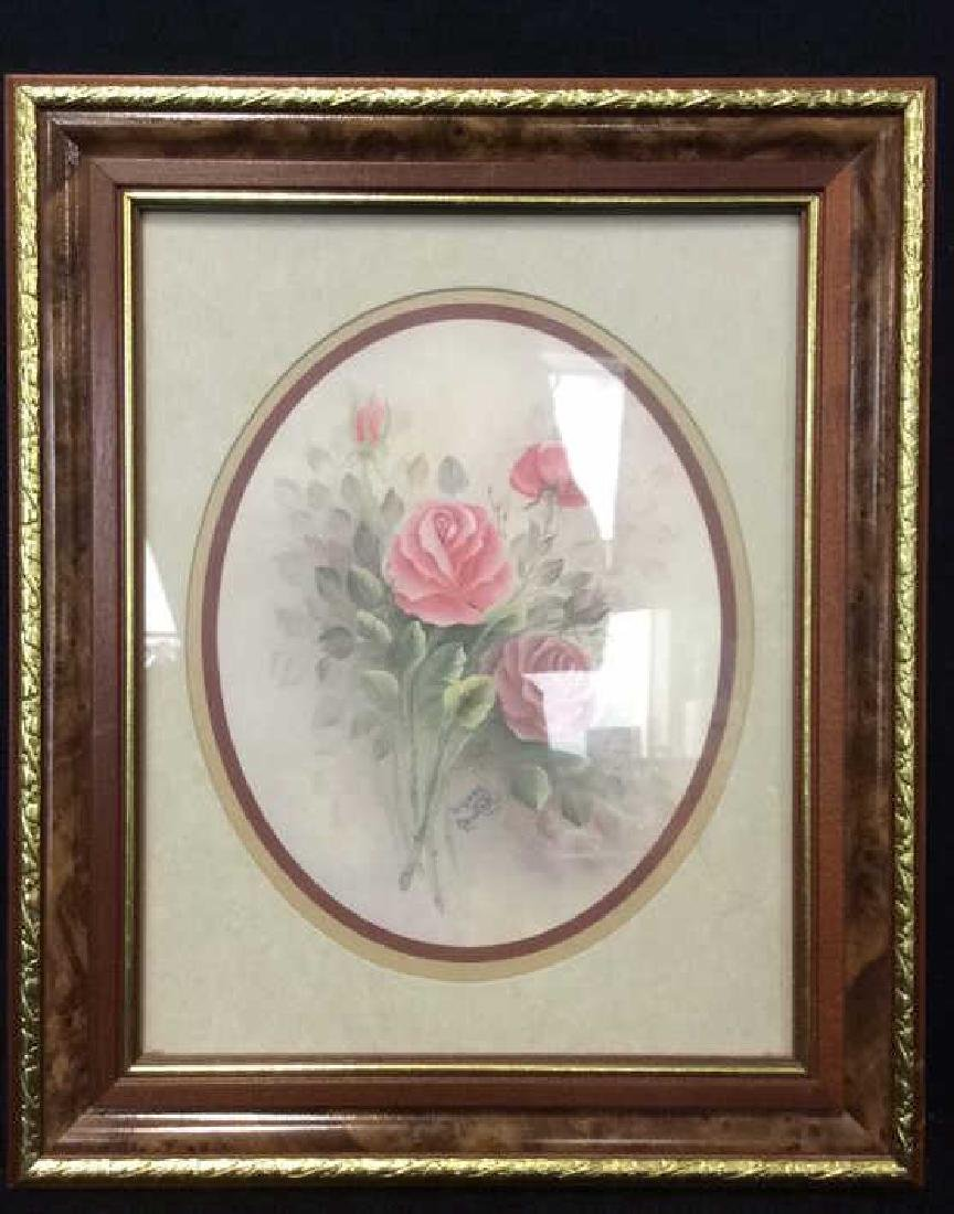 Lot 2 Wyona Newton Framed Floral Artwork Print - 2