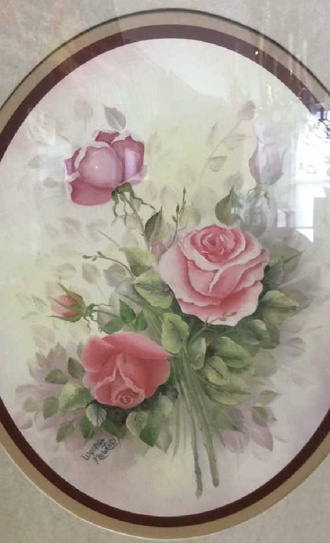 Lot 2 Wyona Newton Framed Floral Artwork Print - 5