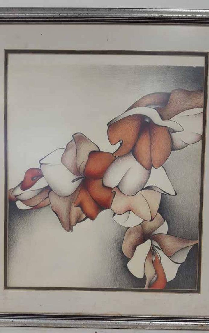 Still Life Floral Drawing Framed and Matted - 2