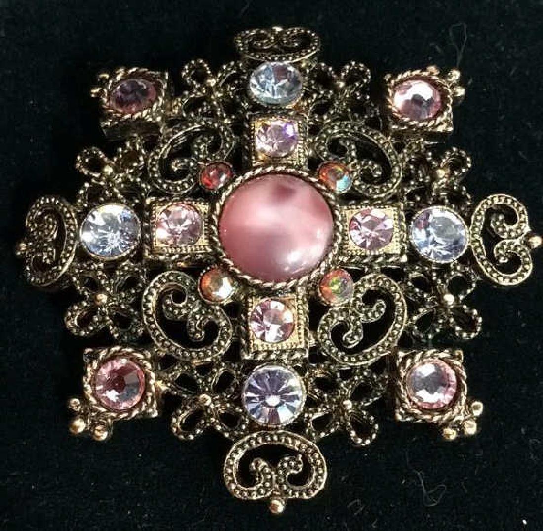 Rhinestone Brooch Pin Vintage Jewelry