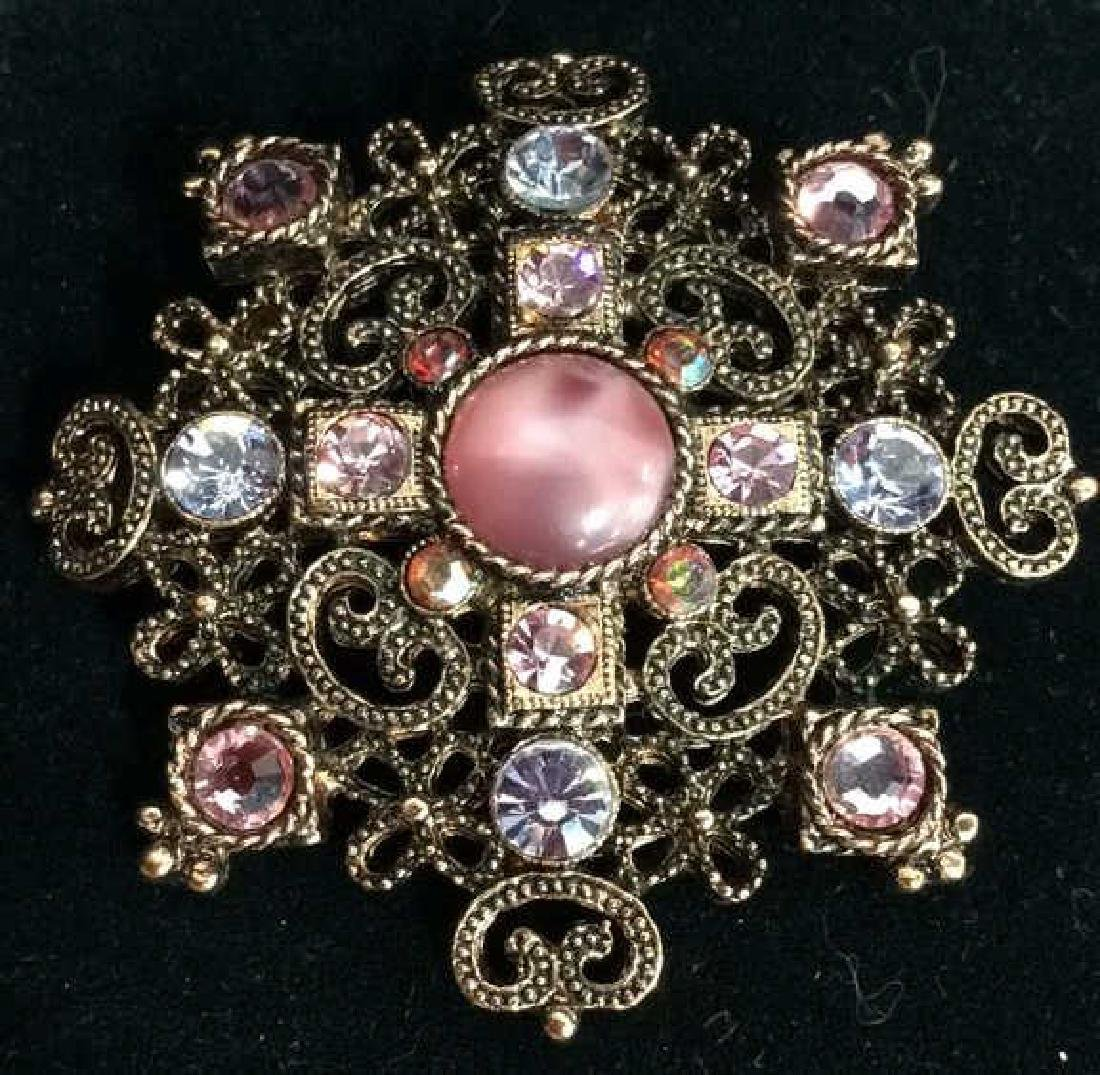 Rhinestone Brooch Pin Vintage Jewelry
