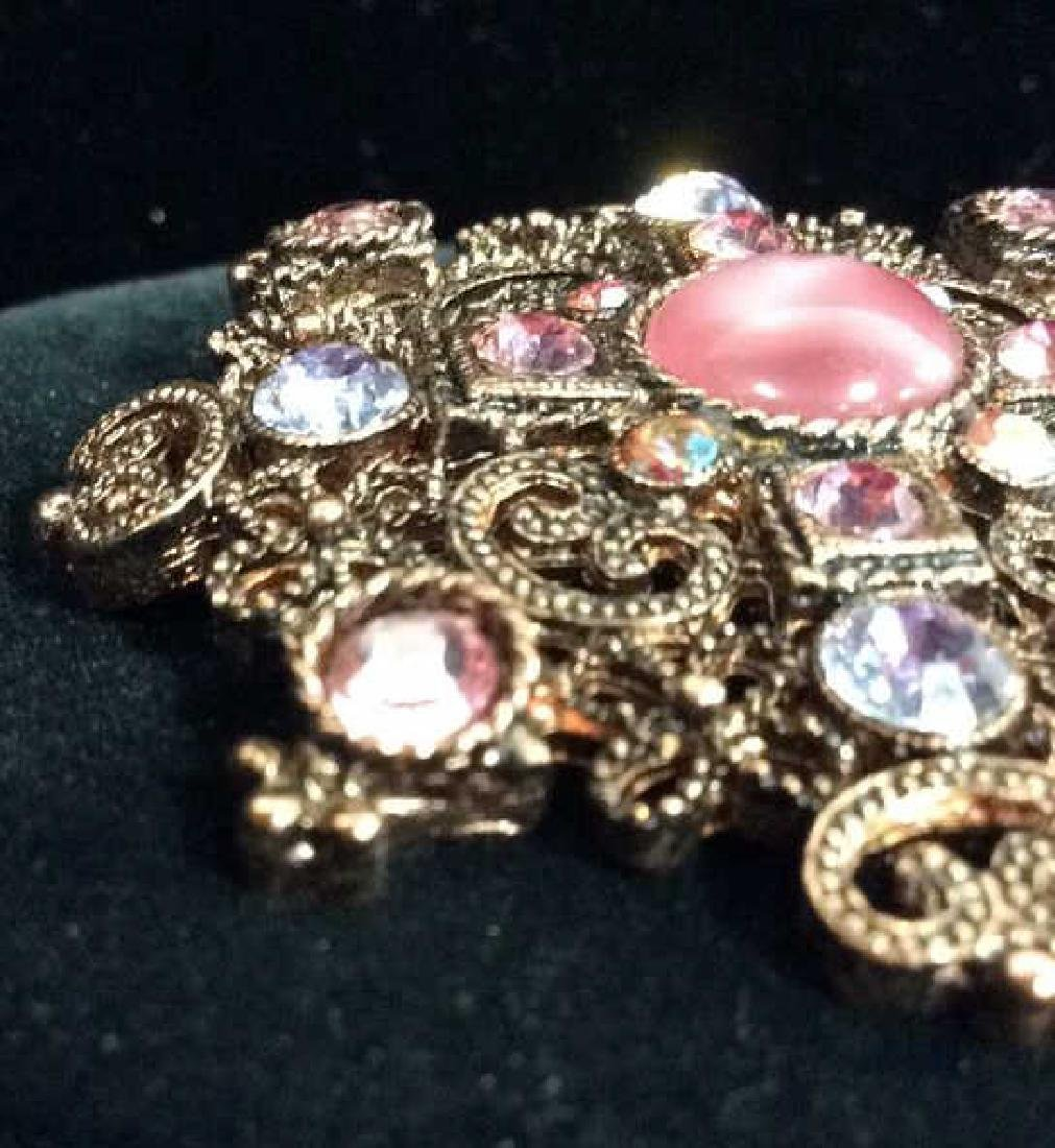 Rhinestone Brooch Pin Vintage Jewelry - 3