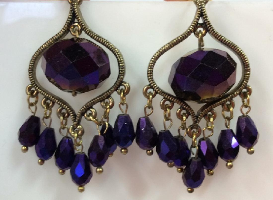 Iridescent Glass Beaded Earrings Jewelery