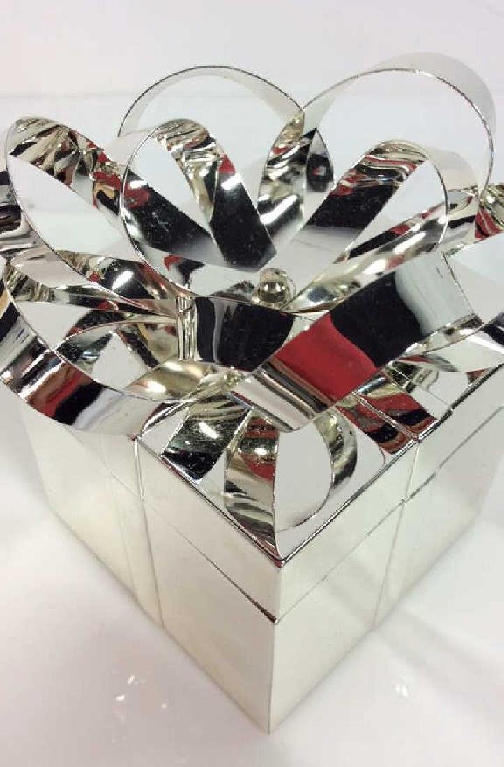 Silver Toned Metal Gift Box - 2