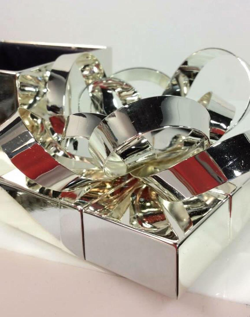 Silver Toned Metal Gift Box - 4