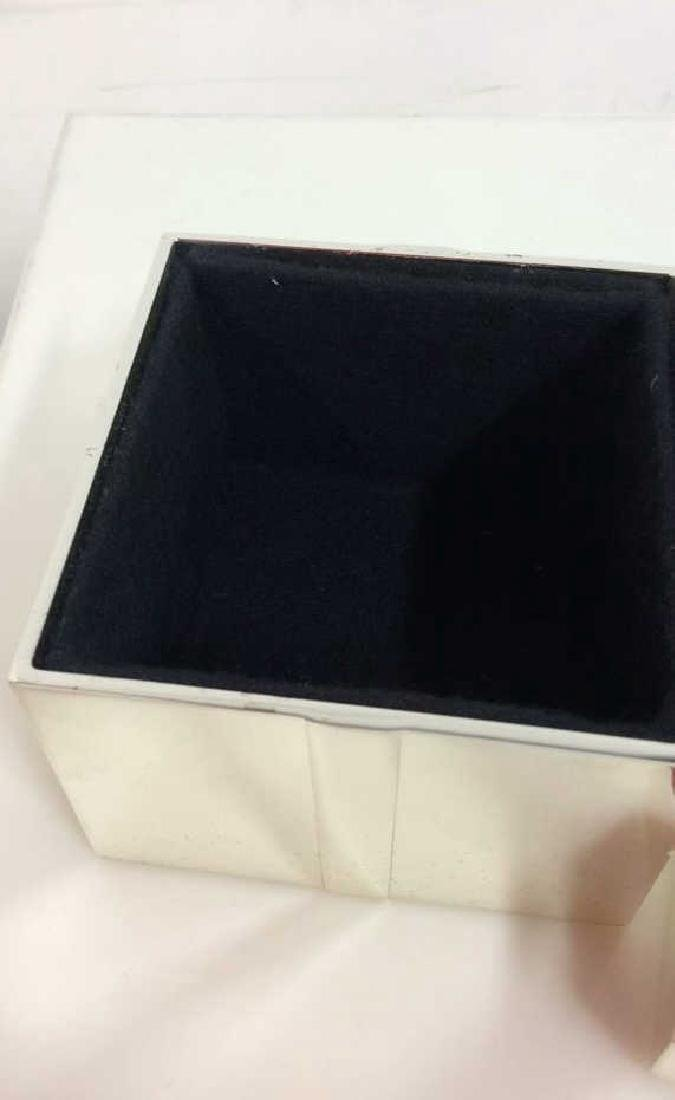Silver Toned Metal Gift Box - 5