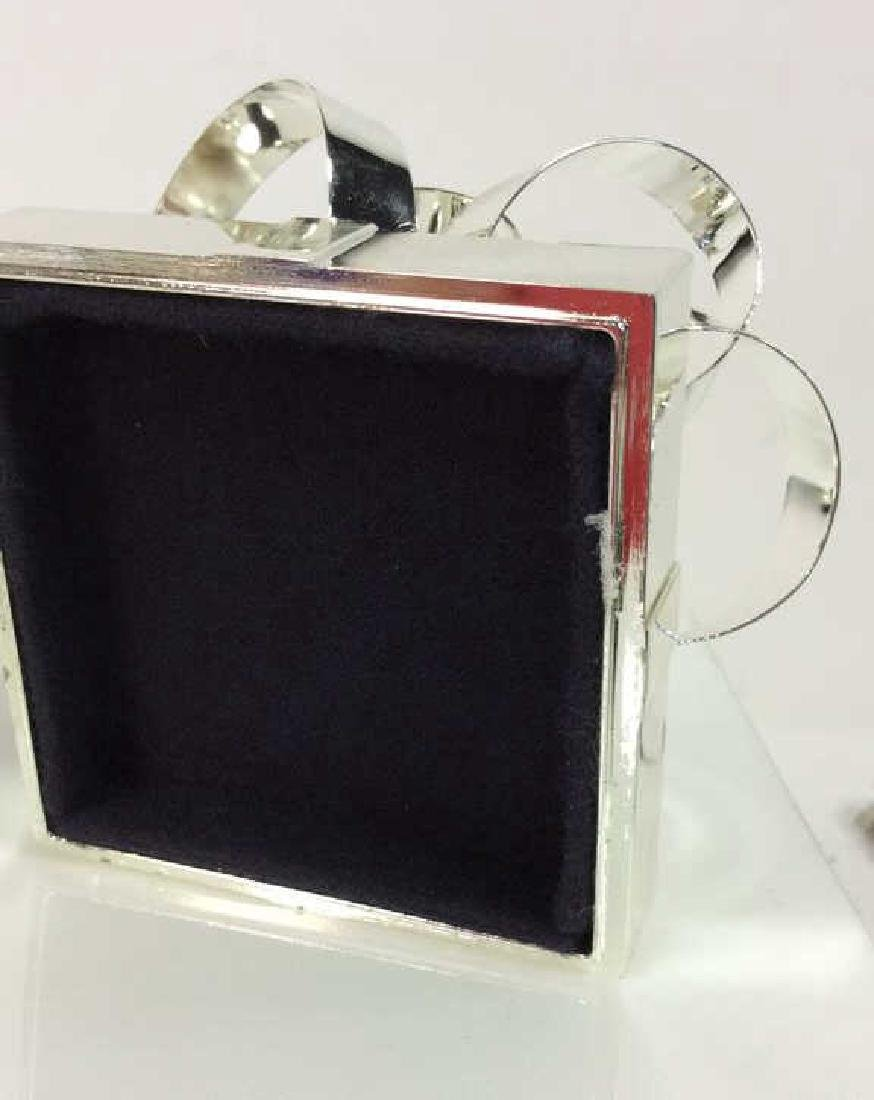 Silver Toned Metal Gift Box - 8