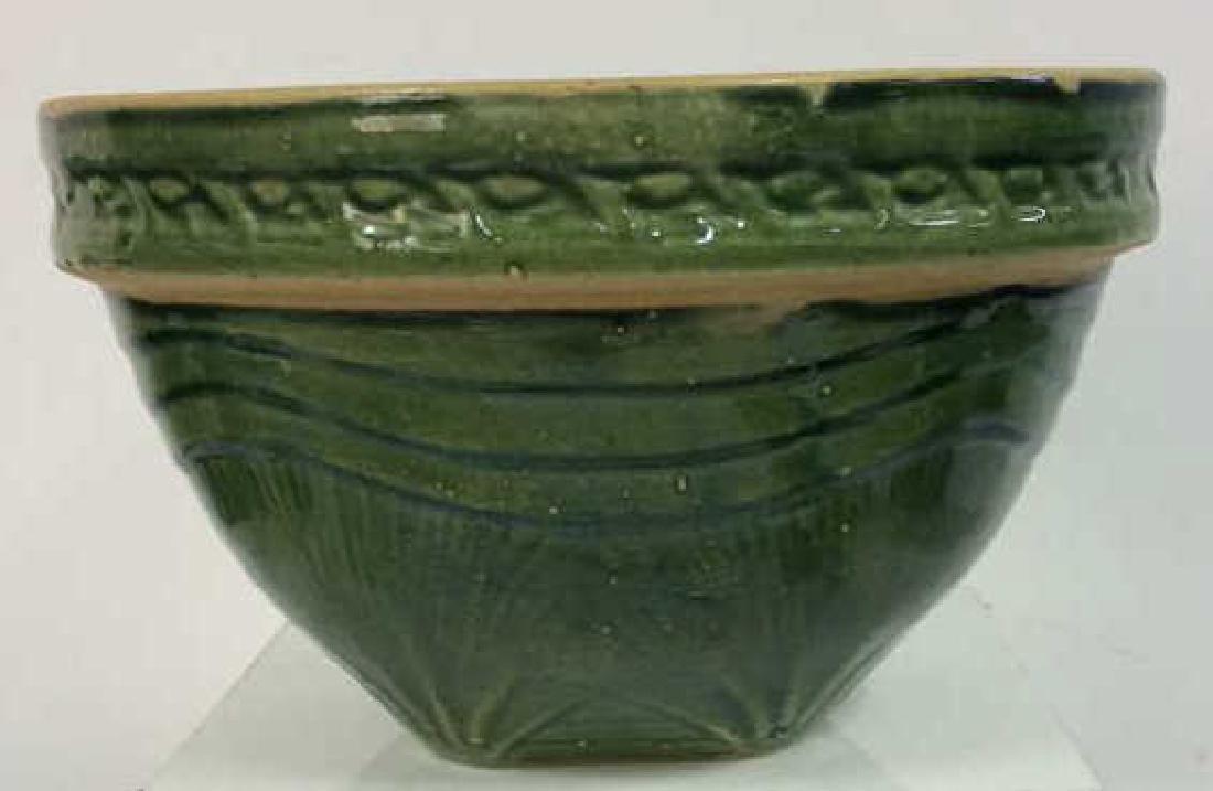 Green Toned Glazed Ceramic Bowl