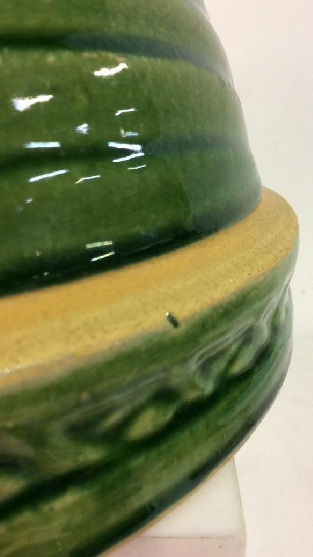 Green Toned Glazed Ceramic Bowl - 8