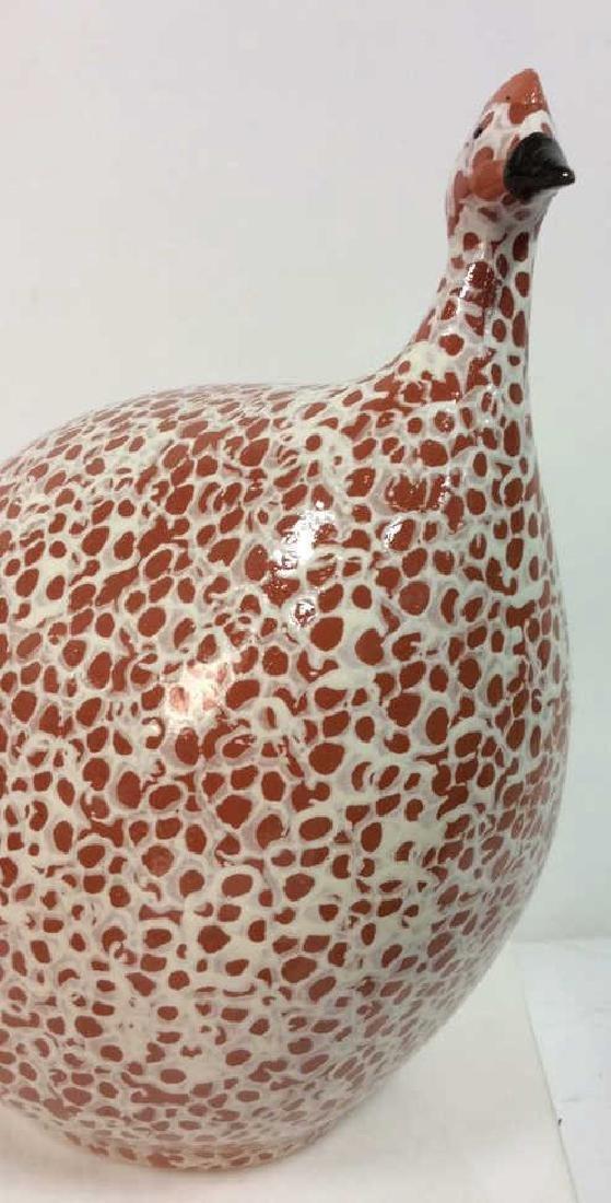 Pair Heidi Caillard Ceramic Guinea Hen Sculpture - 2