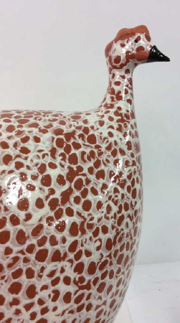Pair Heidi Caillard Ceramic Guinea Hen Sculpture - 3