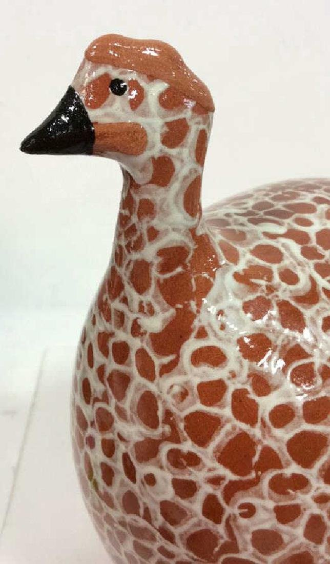 Pair Heidi Caillard Ceramic Guinea Hen Sculpture - 7