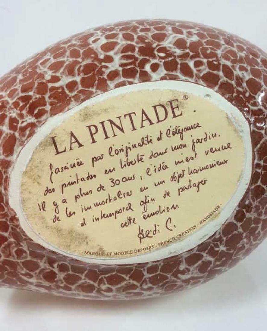 Pair Heidi Caillard Ceramic Guinea Hen Sculpture - 8