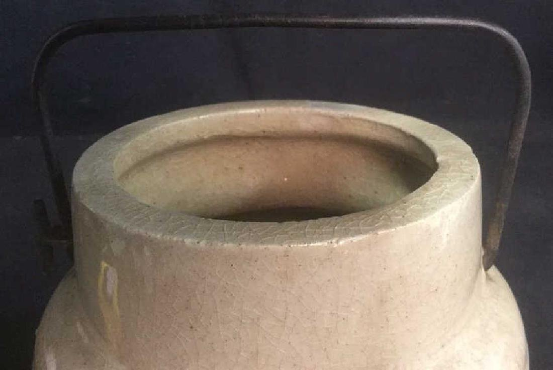 Sand Toned Handled Ceramic Jug - 5