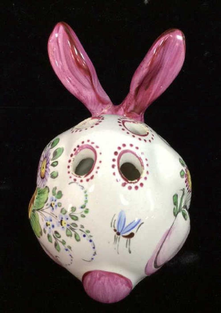 French Painted Porcelain Rabbit Figural - 4