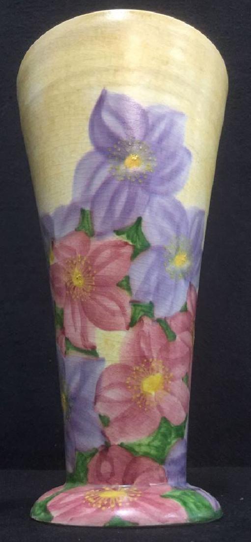 Ceramic Floral Detailed Painted Vase